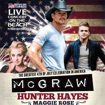 Celebrate America Wildwood NJ Tim McGraw Hunter Hayes MAggie Rose